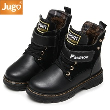 2017 New Autumn Winter Warm Genuine Leather Boots High Quality Children Snow Boots Boys Boots Comfortable Kids Hot Casual Shoes