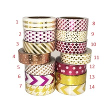 Arrow Dot Gold Foil Washi Paper Tape Adhesive Tape  Adesiva Decorativa For Gift Packing Wedding