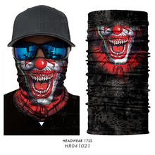 3D Seamless Skull Skeleton Joker Clown Balaclava Tube Neck Face Mask Scarf Motorcycle Bicycle Hunting Outdoor Bandana Headband