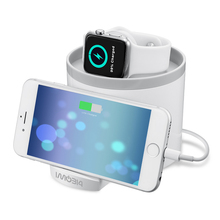 White Desktop Smart Nightstand Charger Dock for iWatch Watch Charging Phone Stand for Apple iPhone5 5s 6 6S 7 plus Free Shipping