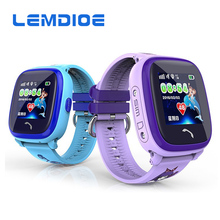 LEMDIOE DF25G Kids GPS Smart Watch IP67 Waterproof Support Remote Monitoring Health Tracker SOS Emergency Alert for Android IOS
