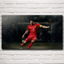 World Cup Soccer Cristiano Ronaldo Poster Football Art Silk Posters Home Decor Pictures 11x20 16x29 20x36 Inches Free Shipping
