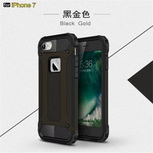 High Quality Hybrid Durable Armor Case For iPhone7 iPhone 7 Plus 5 6 Silicone + PC Shockproof Hard Rugged Phone Cases Cover Back