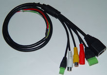 LAN cable for CCTV IP camera board module (RJ45 / 2x Audio / Alarm / RS485 )