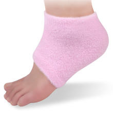 1 Pair Pink Moisturising SPA Gel Heel Foot Socks Cracked Dry Hard Foot Skin Care Foot Care Protectors Feet Skin Protector Tools(China)