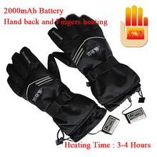 Newest! USB Electric Heating Gloves Outdoor Lithium Battery Self Heating Gloves Fingers and Back hand Heating(China)