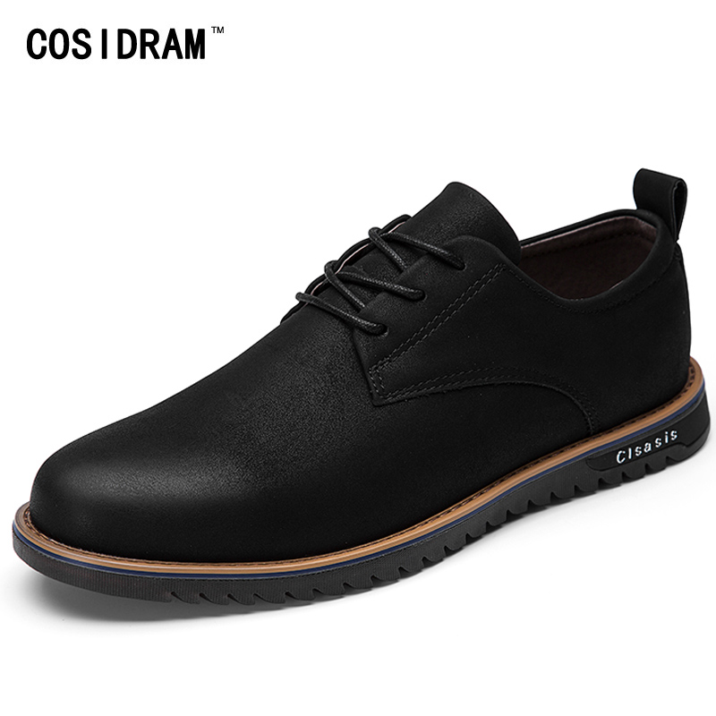 COSIDRAM British Style Fashion Men Casual Shoes New 2017 Spring Autumn PU Leather Men Shoes Male Footwear RMC-151<br>
