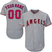 MLB Men's Los Angeles Angels Baseball Road Gray Flex Base Authentic Collection Custom Jersey(China)