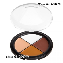 Convenient Palette 4 Color Concealer Palette White Deep Brown Camo Quad Dark skin tones Concealer N03(China)