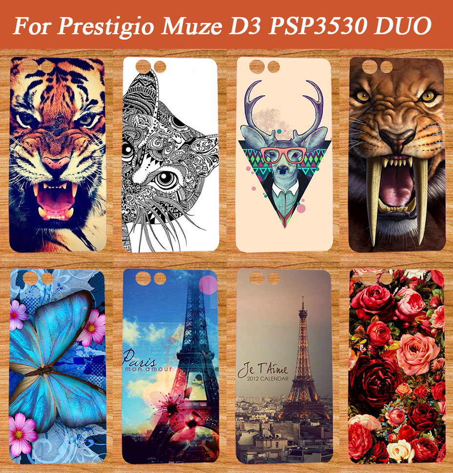 New Fashion Painted DIY Colored SOFT TPU Case Cover For Prestigio Muze D3 PSP3530 DUO 3530 Duo Case E3 PSP3531 DUO 3531 Case(China (Mainland))