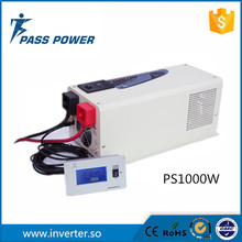 2016 free shipping dc to ac inverter 1kw low frequency 1000w solar power inverter with charger(China)