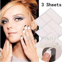 3pcs/set French Manicure U Shaped Nail Tip Guides Strip Nail Art Sticker