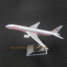 16cm Alloy Metal Air American Airlines Boeing 777 B777 Airways Plane Model Aircraft Airplane Model w Stand Gift(China)