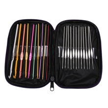 22pcs Set Aluminum Crochet Hooks Needles Knit Weave Craft Sewing Tools Crochet Hooks Knitting Needles DIY Crafts Home Supplie(China)
