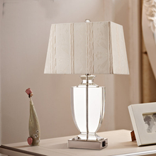 high 70cm big size Modern brief k9 crystal curtain luxury table lamp ofhead quality romantic decoration lamp abajur para quarto(China)