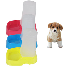 New Automatic Pet Puppy Cat Dog Drinking Water Food Feeder Dispenser Dish Feeding Utensils