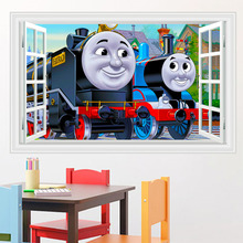 kids bedroom cute thomas wall decor sticker removable children wall decals adhesive wall pictures for living room