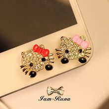 cartoon cat pattern Home Button Sticker for iPhone 4 4S 5 5s 6 plus 3GS for iPad 1 2 3 4 Air mini for iTouch Mobile Phones