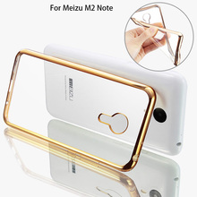 Ultra Thin Rose Gold Plating Crystal Clear TPU Case for MEIZU M2 Note Luxury Soft Sillicon Back Cover Skin for Blue Charm Note 2