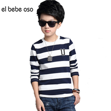 2016 Warm Winter Kids Velvet T-shirt Long Sleeves Children Clothes Boys Clothing Pullover Patchwork Color Boys T Shirt XL660(China)