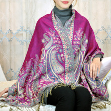 P2017 new big scarf scarf Bohemia Nepal totem cashew customized  240 grams scarf pashmina