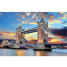 Tower Bridge of London sunset (below) The wooden puzzle 1000 pieces of adult children's educational toys(China)