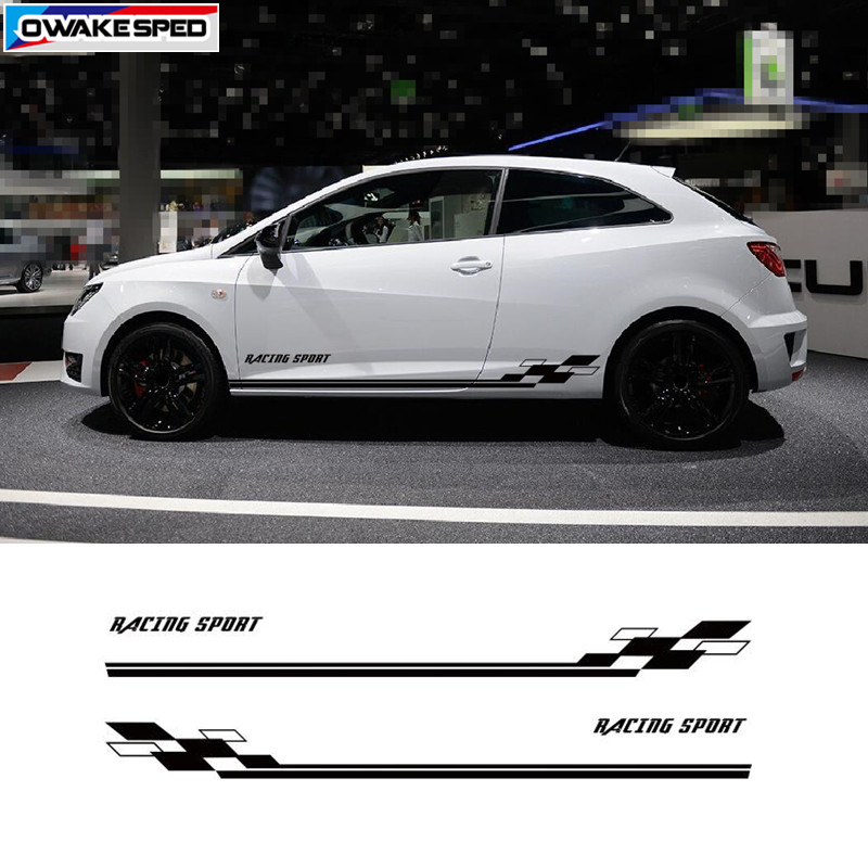 Fits Honda 2000 Sports Side Racing Stripes  Graphics Tuning Car Stickers