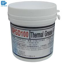 GD Brand Heat Sink Plaster Compound GD100 Thermal Conductive Grease Paste Silicone Net Weight 150 Grams White For CPU LED CN150(China)