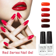 BELLE FILLE UV Gel Polish Varnish Red ColorS for Choice Vampire Red Wine Series Nail Cosmetic Art Manicure vernis semi permanent(China)