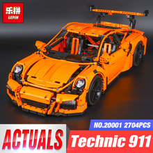 LEPIN 20001 20001B New Technic Series 911 Race Car Model Building Kits Blocks Bricks With 42056 Toy For Children Birthday Gifts