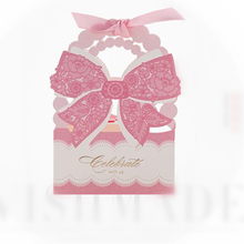 Elegant Pink Candy Bag Luxury Flower Festive Party Event Supplies Decoration Butterfly Baby Shower Gift Wedding Paper Favors Box