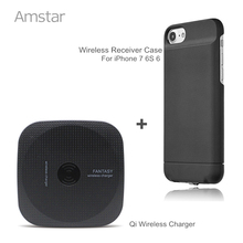 Buy Amstar Qi Wireless Charger Universal Wireless Phone Charger + Qi Receiver Wireless Charger Receiver Case Cover iphone 7 6S 6 for $20.99 in AliExpress store