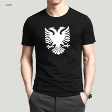 Cotton Tee Albania Eagle T Shirts Round Neck Men Leisure Short Sleeve t shirt