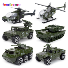 Fondlecare 6pcs kids fire truck military Policy car 1:87 Alloy metal car Baby Die casts Vehicles model toys for children(China)