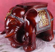 Elephant shape ottoman sofa stool footstool Antique footrest home furniture Valentine's day,birthday crafts desktop decoration