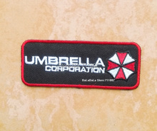 9 x 3.5cm Umbrella corporation iron on patches logo outdoor badge appliqued embroidered Badge sewing supplies wholesale