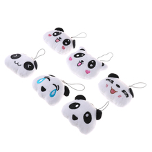 Doll Gift 6CM Fashion Cartoon Lovely Panda Mobile Phone Pendant Big Head Panda Plush Accessories Toy(China)