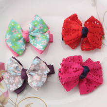 Kids Headwear Children Hollow Hair Ornaments Flower Girls Butterfly Ties Hairpins Bowknot Hair Accessories Bbays Hairclips(China)