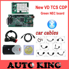 new model vci VD tcs cdp plus 2015.1 software with Full 8pcs car cables for cars trucks diagnostic tool obd obd2 DHL Free ship(China)
