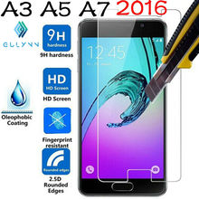 ON SALE 2.5D 9H Premium Tempered Glass film for Samsung J3 J5 J7 A3 A5 A7 2016 2017 Galaxy Grand Prime Screen Protector Cover(China)