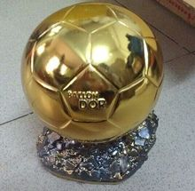 Factory Direct Supply Football World Player of the Year Trophy Resin Golden Ball Ballon d'Or 15cm(China)