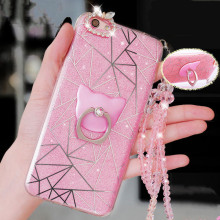 Luxury Bling Rhinestone Strap Diamond Case For iPhone 5 5s SE 6 6S Plus 6Plus 7 7plus Mobile Phone Case With Phone Stand Holder