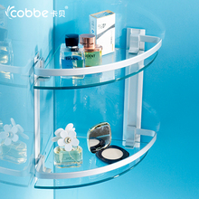 Solid Triangular Glass Shelves Wall Mounted Aluminum Shower Caddy For Bathroom Accessories Bathroom Storage Rack Cobbe703378/79(China)