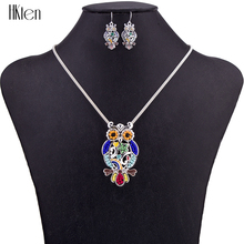 MS1504541 Fashion Jewelry Sets Hight Quality Necklace Sets For Women Jewelry Silver Plated Unique Owls Design Party Gifts