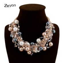 Buy Zeyan Women Necklace Vintage Jewelry Collar Simulated Pearl Necklaces Pendant Trendy Pearl Beads Choker Party Statement Necklace for $9.11 in AliExpress store