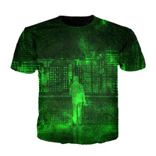 Cloudstyle 3d Printing tshirt Homme Wall Street Building Thinkers Green T shirt men woman fashion top tees short sleeve M-5XL(China)