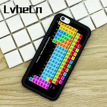 LvheCn TPU Phone Cases For iPhone 6 6S 7 8 Plus X 5S 5C SE 4S ipod touch 4 5 6 Cover Chemical Chemistry College Periodic Tables