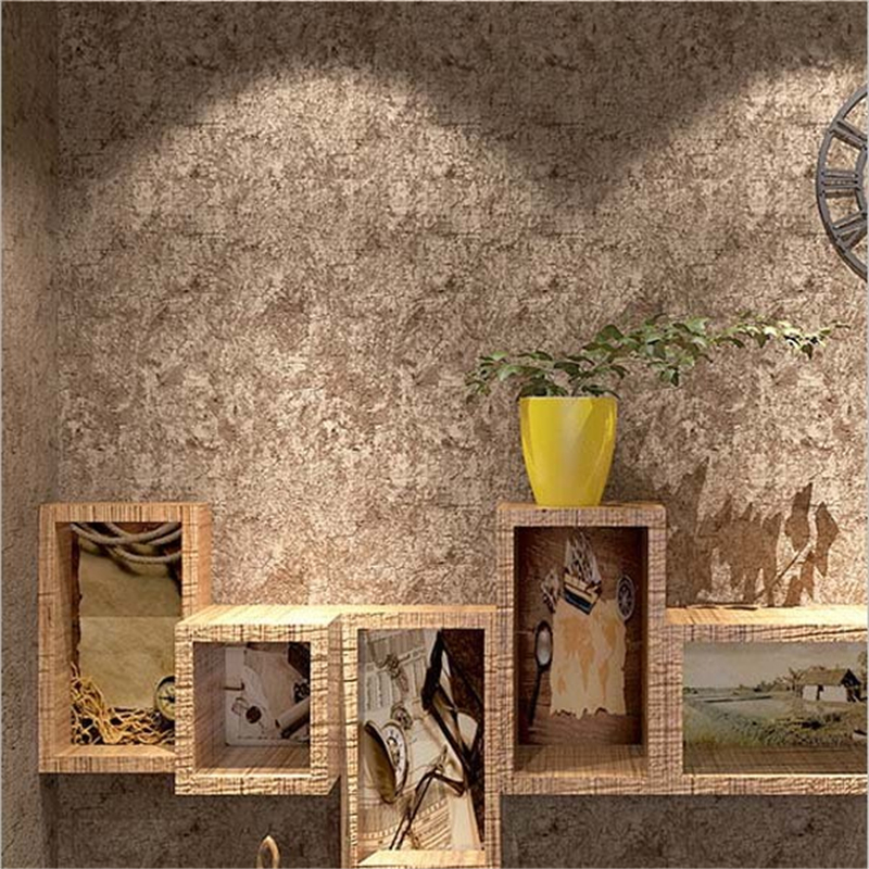 Beibehang Retro Nostalgic Cement Walls Plain Wallpaper Bar Restaurant Cafe Coffee Shop wall paper home decor papel de parede <br>