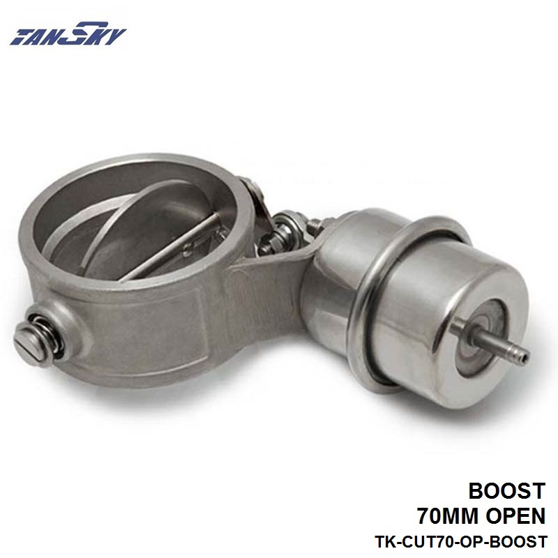 TANSKY - NEW Boost Activated Exhaust Cutout/Dump 70MM Open Style Pressure: about 1 BAR For FORD F100/F150/F250 TK-CUT70-OP-BOOST
