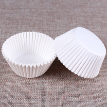 400Pcs/Set Cupcake Liners Case Cup Muffin Paper Cake Cup Pure White Colors Cake Moulds Bakeware Pastry Dessert Decorating Tools(China)